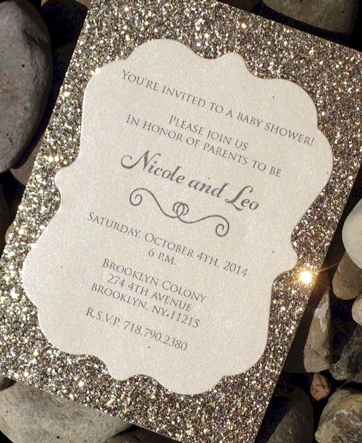 wedding card invite wordings%0A    Gorgeous Glitter Wedding Invitation Ideas