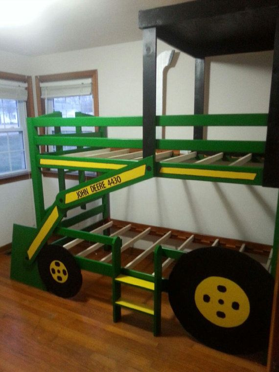 Tractor beds red tractor boys trucks and tractor bed for John deere bedroom ideas