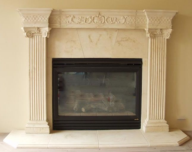 32 best images about cast stone fireplace mantels on for Faux marble fireplace mantels