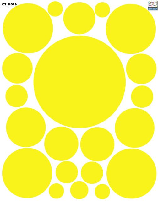 Polka Dot Decals- Yellow Wall Sticker