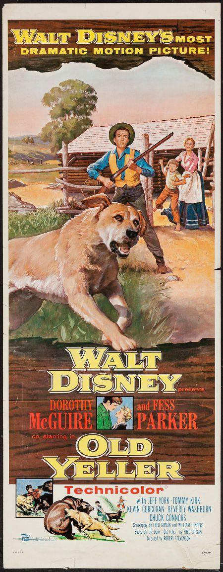 "Movie Posters:Drama, Old Yeller (Buena Vista, 1957). Insert (14"" X 36""). Drama.. ... Image #1"