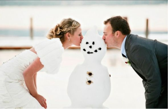 Top Ten Snowy Weddings - Rustic Wedding Chic