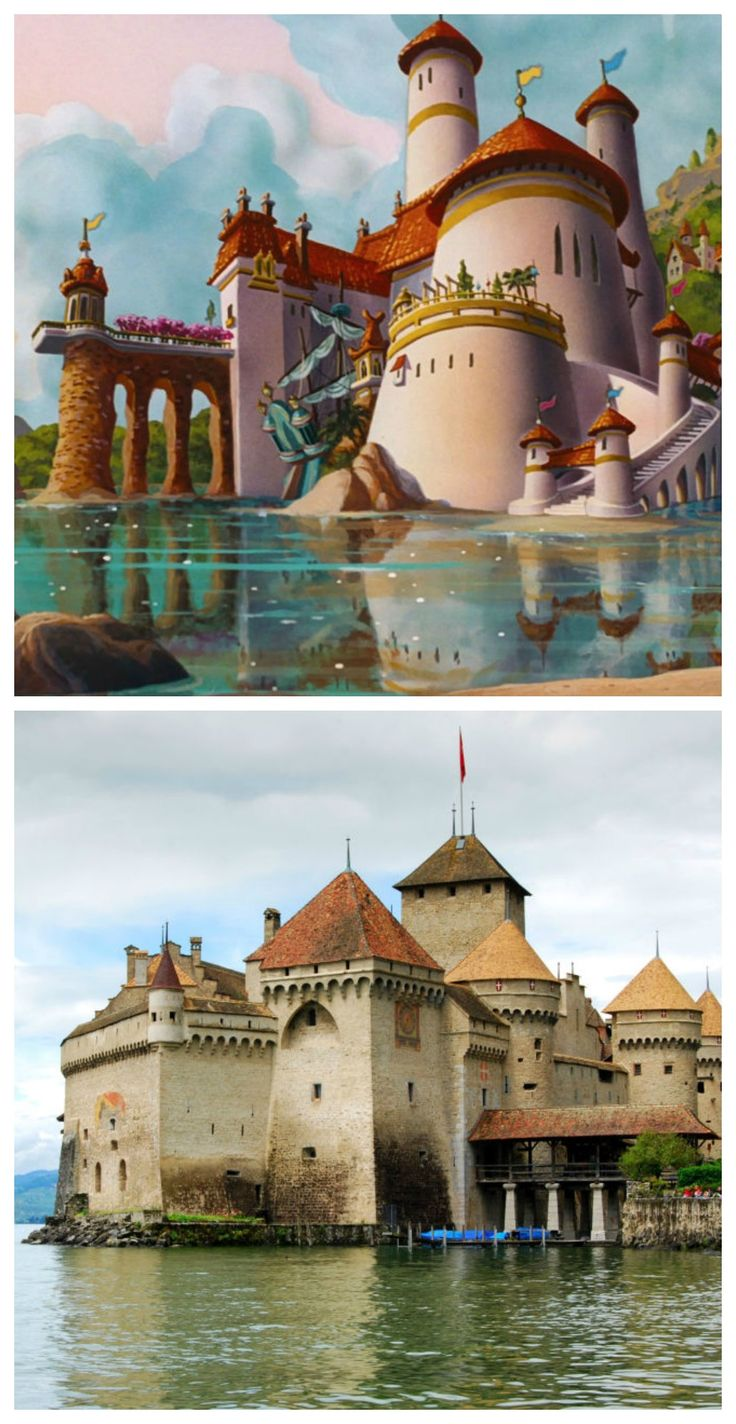 Do we have any Little Mermaid fans out there? For those obsessed with the classic Disney movie, a little fun fact may make your day. Prince Eric's Castle was inspired by the historic monument, Chateau de Chillon in Lake Geneva, Switzerland. Can you see the striking resemblance?