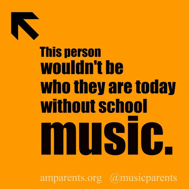This person wouldn't be who they are today without school #music.