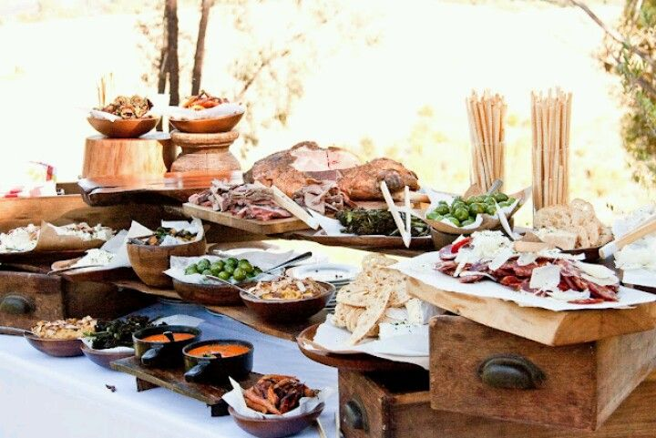 Wedding Food Ideas Get Creative I Do Knot: Rustic Buffet Display