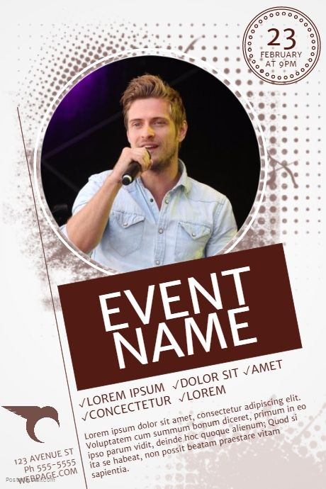 122 best Event poster templates images on Pinterest Event poster - flyer samples for an event
