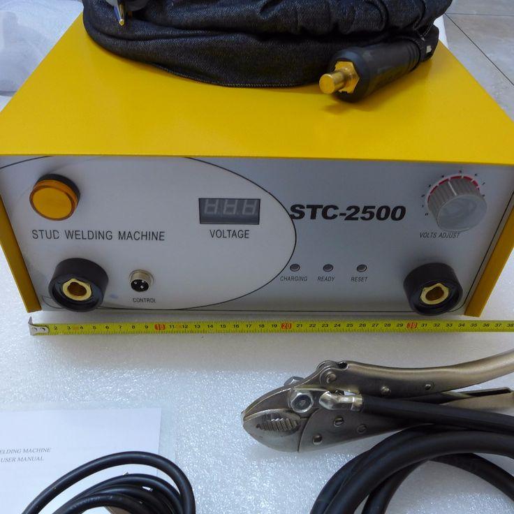 New SCT-2500 Capacitor Discharge CD Stud Welder Welding Machine M3-M10 Collet 220V