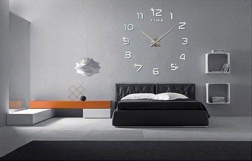 Large Clock Wall Decals Decor Art Numbers Stickers Living Bed Room 3d Art Design #LargeClockWallDecals #Modern