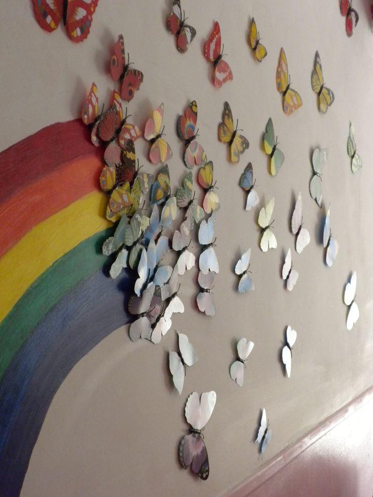 17 meilleures id es propos de mur arc en ciel sur for Decoration murale origami