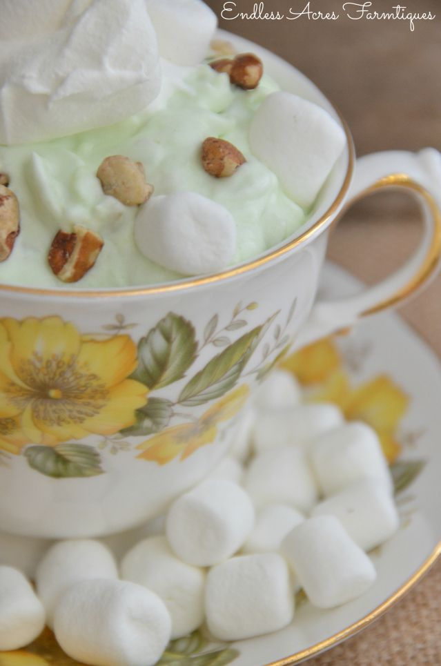 Pistachio Pudding Salad Recipe  (watergate salad) Step by Step instructions and photos. by Endless Acres Farmtiques