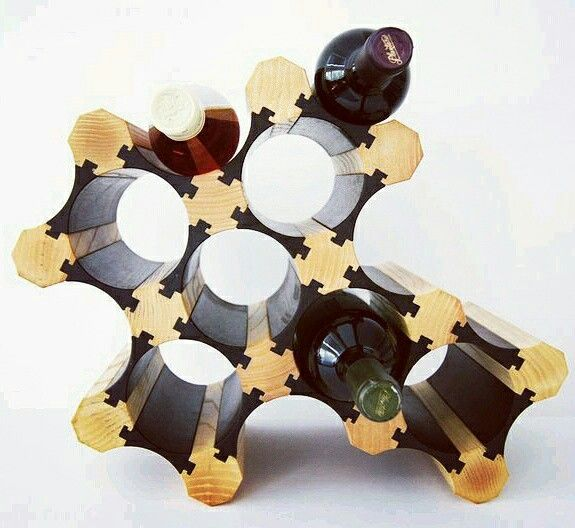 9 Bottle Wooden Wine Holder
