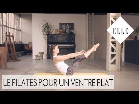 Le pilates pour un ventre plat┃ELLE Pilates - YouTube