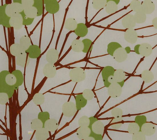 Latest Designer Fabric 'Lumimarja in Greens and Brown' by Marimekko (FIN). Designer Fabrics, curtains, blinds, cushions online