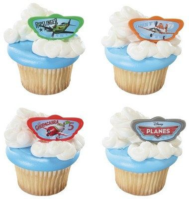 Disney Planes Dusty Cake Cupcake Pops Plastic Rings Party Favors Birthday