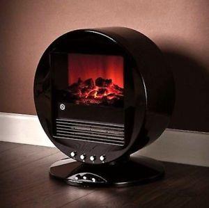 Fine Elements Flame Effect Desktop Oscillating Fan Heater.
