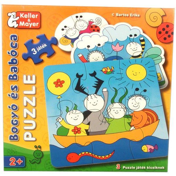Bogyó és Babóca puzzle kicsiknek  Bogyó és Babóca színes mesevilága elevenedik meg a képeken.  Többféle nehézségi fokon játszható, fejleszti a megfigyelőkészséget, a koncentrációs képességet valamint javítja a finom motoros mozgást http://www.kocoska.hu/mesebolt/ujdonsagok/bogyo-es-baboca-puzzle-kicsiknek.html