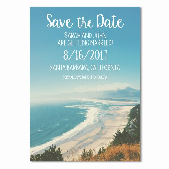 Printable Beach wedding Save the Date. Available on Etsy. Purchase the design and print at home, online, or at your local printer. Design by Mariaddesigns.com. #savethedate #wedding #beach #mariaddesigns #printable #design