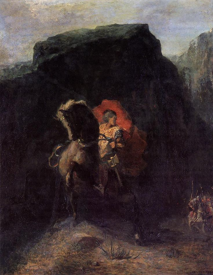Roland at Roncevaux | Odilon Redon | oil painting
