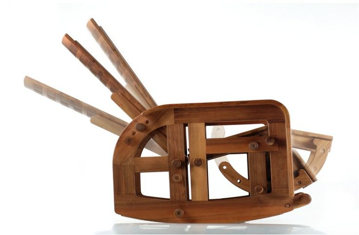 Rocking chair adjustable 1982  Giuseppe Rivadossi #art #wood #design # furniture  Design History  HABITO by GIUSEPPE RIVADOSSI  Pinterest   Rocking ...