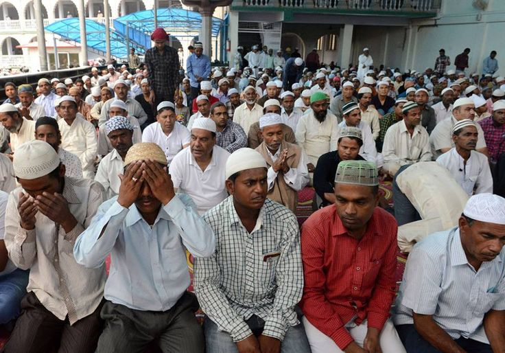 Kathmandu, Nepal  Nepalese Muslims offer the first Friday prayers of Ramadan at The Kashmiri Mosque in Kathmandu.