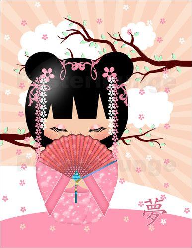 Poster dream kokeshi