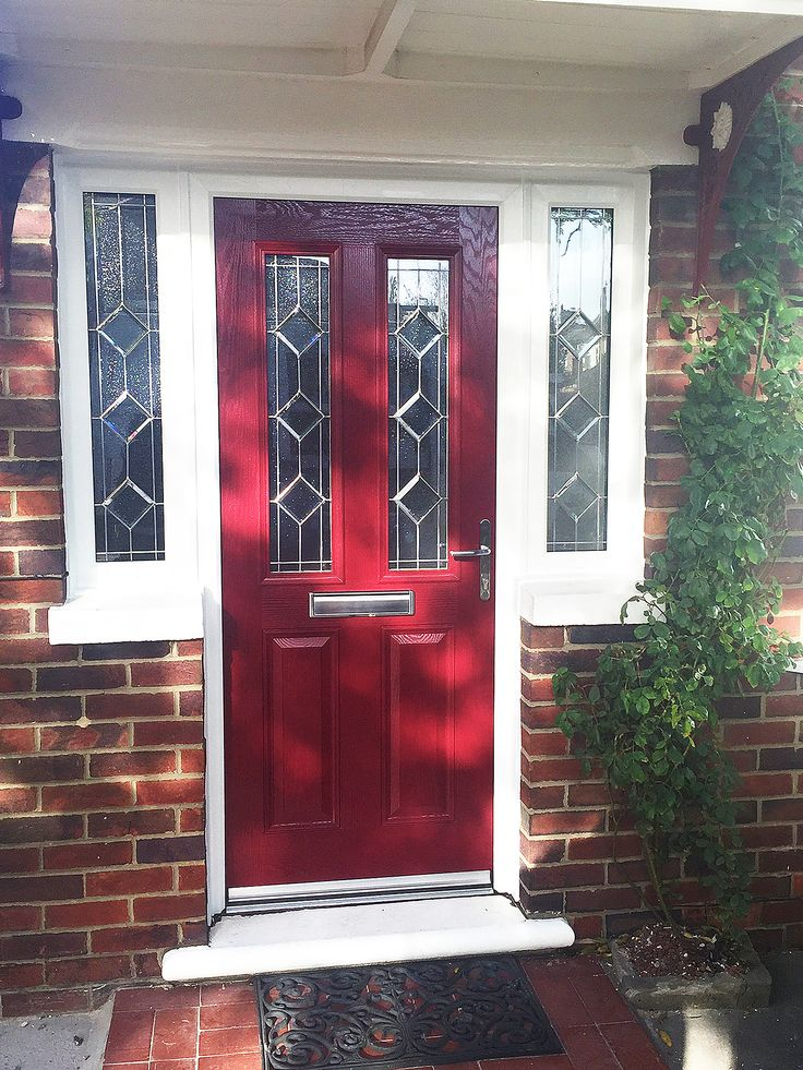 beautiful red altmore composite door with simplicity glass. Black Bedroom Furniture Sets. Home Design Ideas