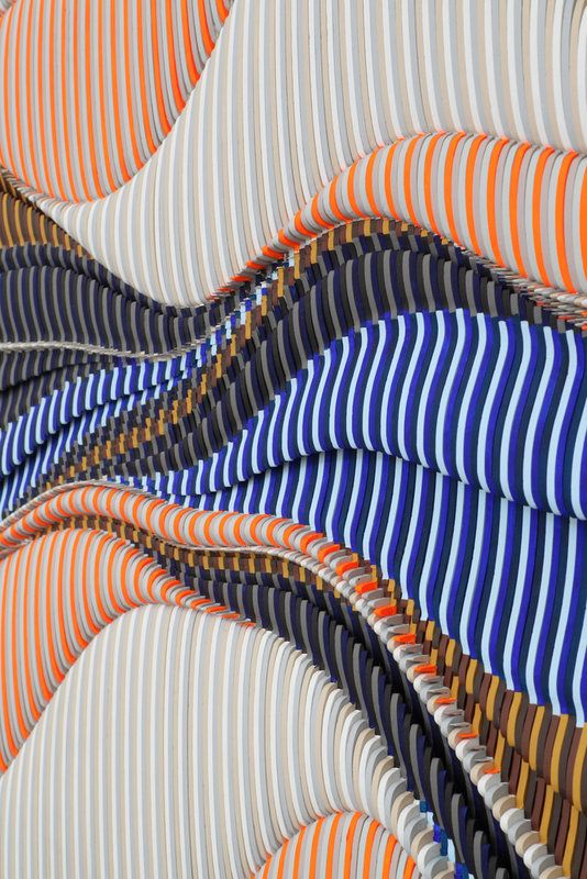 Ara Peterson Untitled (detail), 2013 Wood and acrylic paint 94 x 143 ½ x 3 inches
