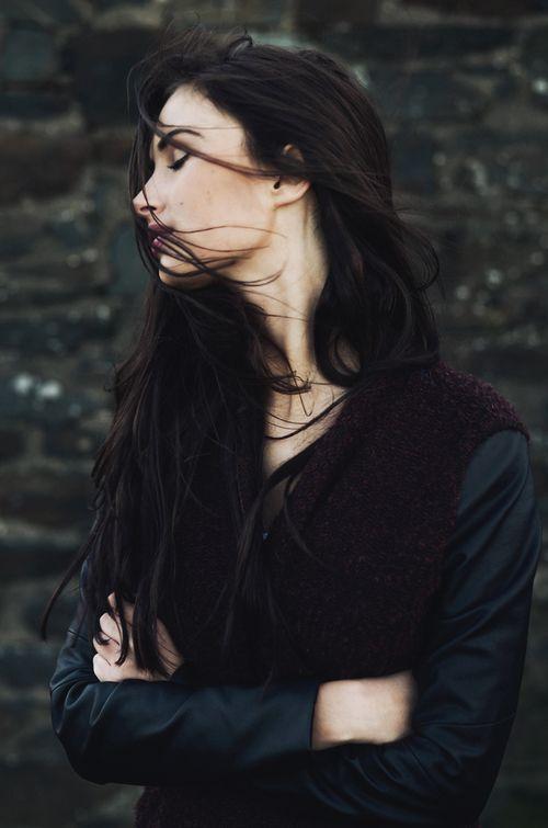brown black long hair girl