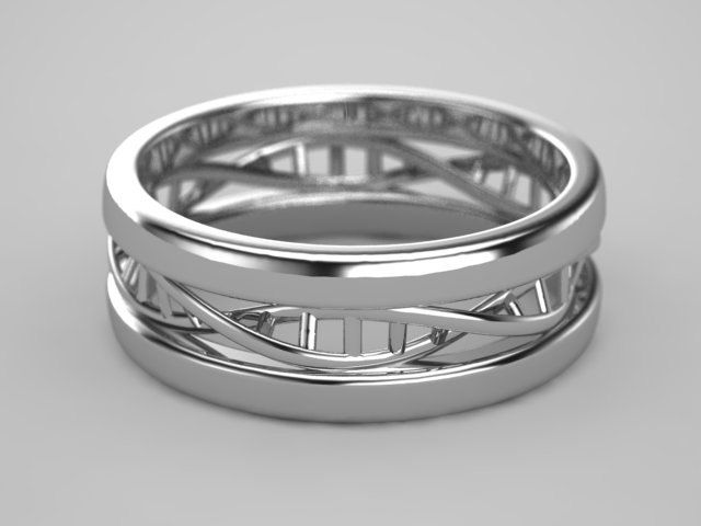DNA Ring in Sterling Silver.