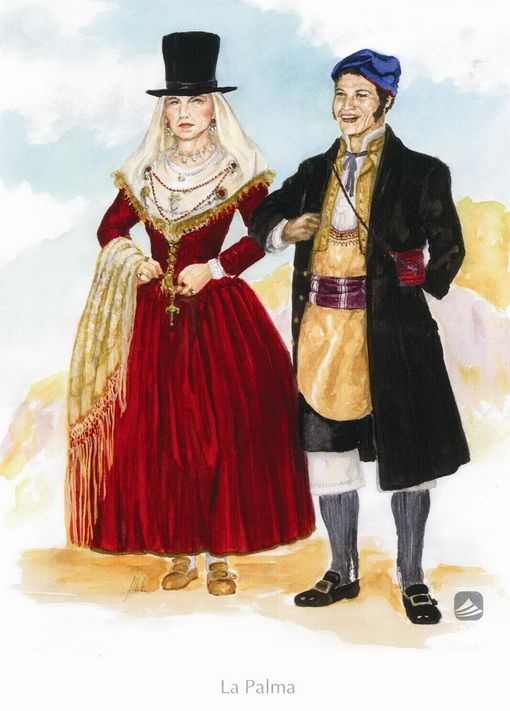 'La Palma'. Trajes de domingo o fiesta. Siglos XVIII y XIX. , BienMesabe.org