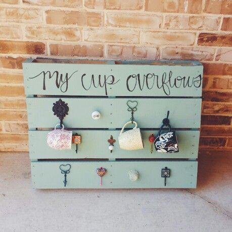 A mug rack to feed my coffee mug obsession DIY making @staylor5138 pinterest famous