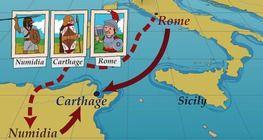 A rómaiak a lerombolt Karthágó helyét felszántották és behintették sóval.