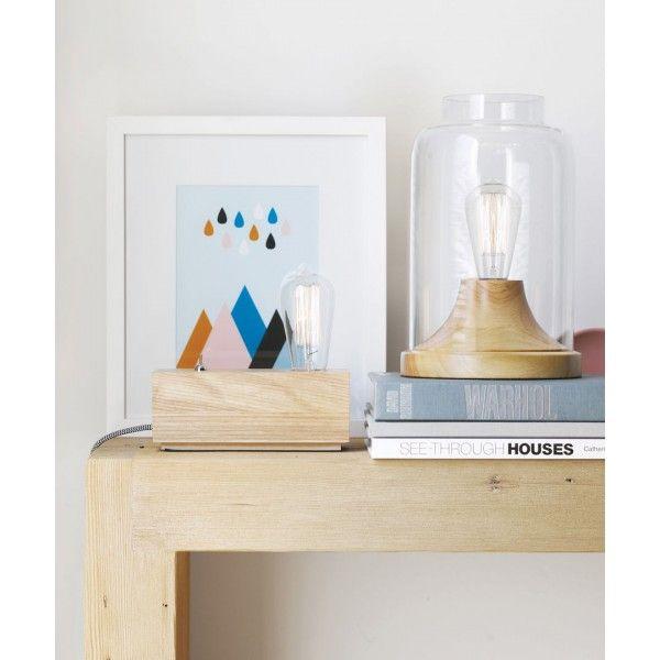 Reg Table Light Glass Transparent Jar Style