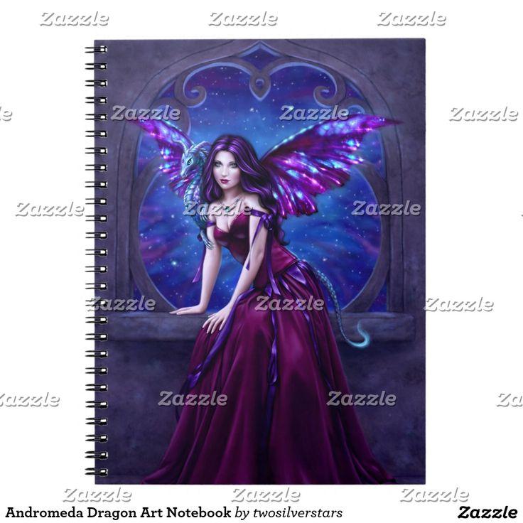 Andromeda Dragon Art Notebook. Regalos, Gifts. #notebook #cuaderno