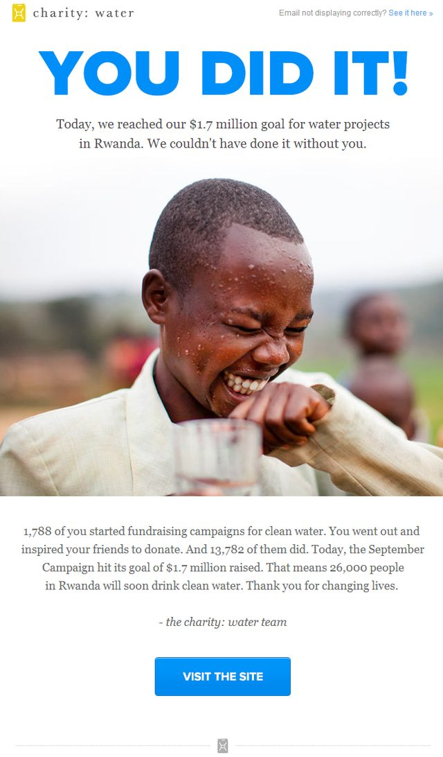 How to Thank a Donor by Email: How Charity:Water Got Me to Open and Read an Email Thank-You