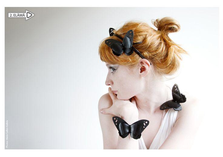 PERHO headband, hairpin, brooch, necklace and bracelet