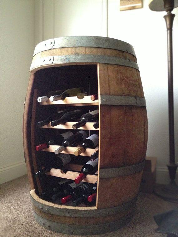 Reclaimed Oak Barrel Wine Rack by Watermead on Etsy #reclaimedwood #wine
