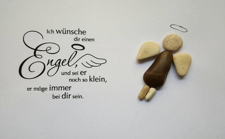 Weiteres - Bild aus Kieselsteinen *Engel* - ein Designerstück von TAMIKRA-Art bei DaWanda