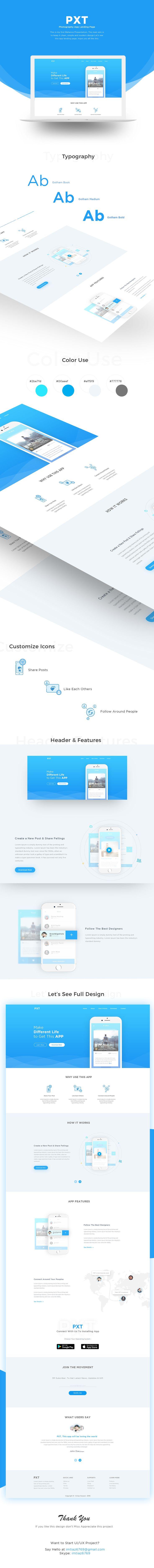 PXT (App Landing Page) on Behance