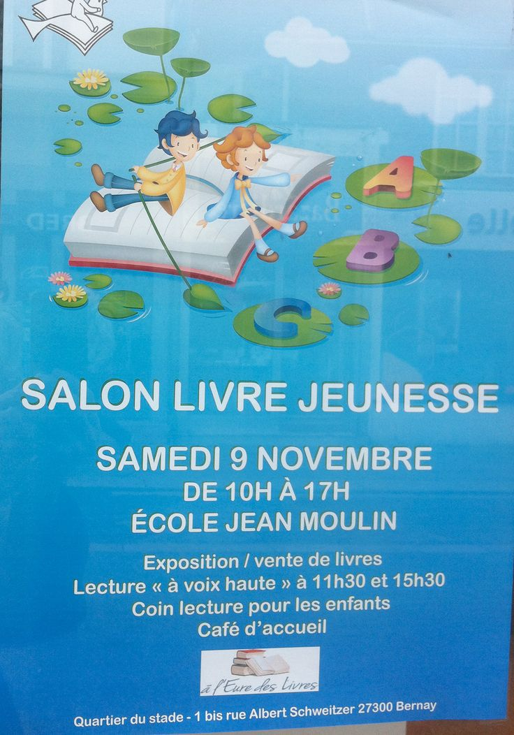 Salon du livre école Jean Moulin à Bernay...
