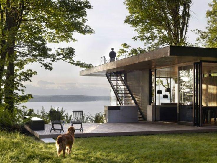 ide de plan de maison moderne avec toit plat - Maison Moderne Carre