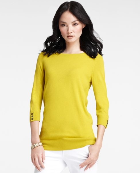 Chartreuse #Sweater #anntaylor #Chartreuse