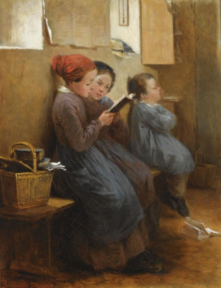 The Reading Lesson. Henriette Browne (French, 1829-1901). Oil on canvas.
