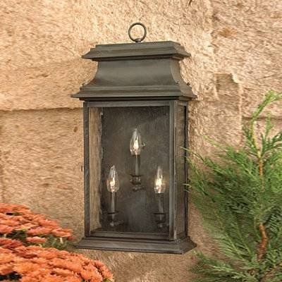 Elk lighting 5730 3 light provincial brass outdoor sconce lighting universe