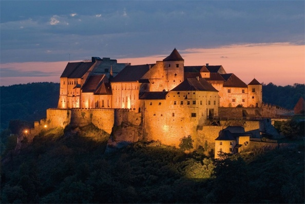 Burghausen Castle Hostel in Bavaria, Germany. Beautiful.  And, yes, you can stay there!  Just book a room. So cool.