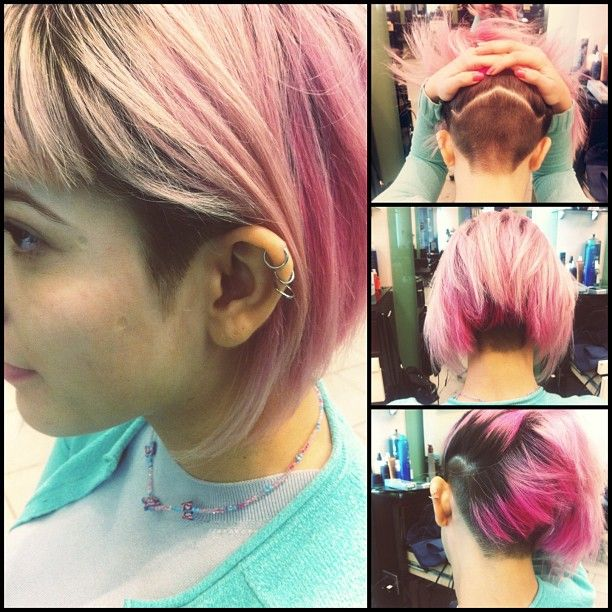 I don't have the courage to dye-- but I've been think about an undercut.