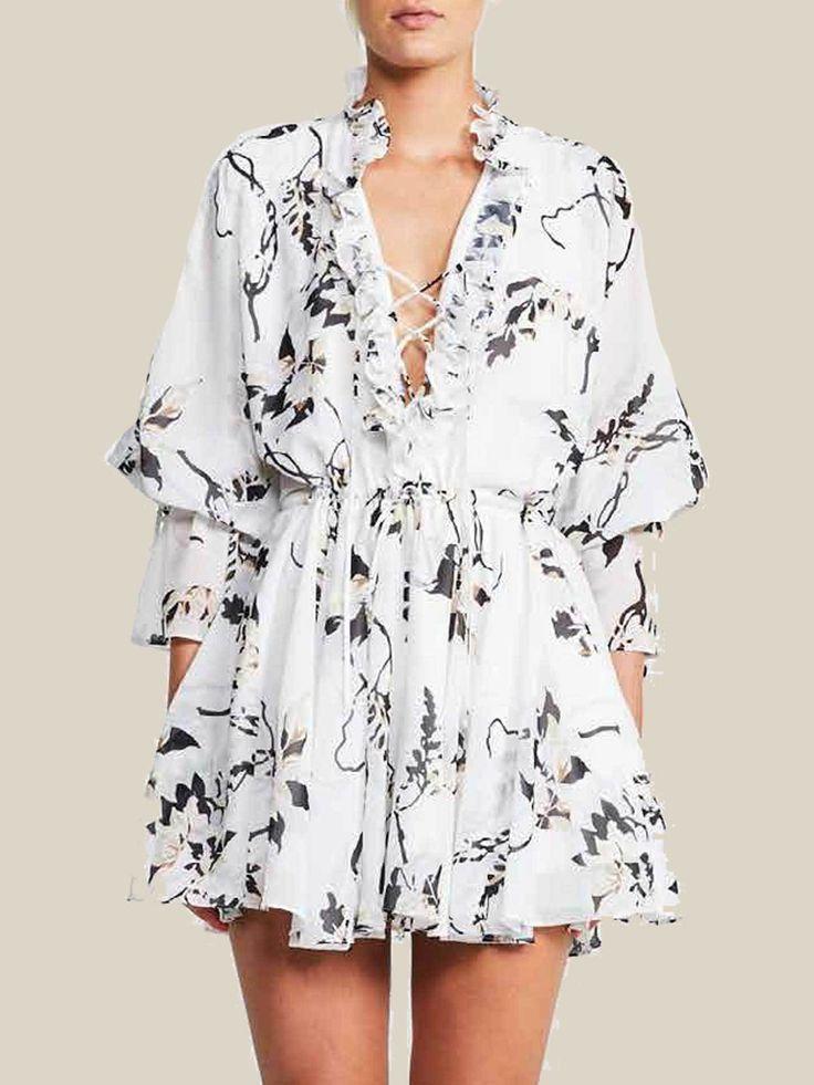 Shona Joy - Apparition Frill Collar Mini Dress - Preorder