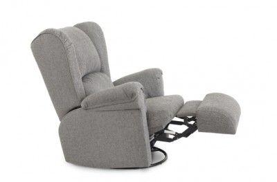 Ritz recliner grey fabric footrest swedish design møbelform www.helsetmobler.no
