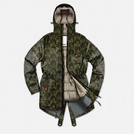 Мужская куртка парка Dupe Storm Hooded 3L Milo Walsh Olive/Dirt Cross Print