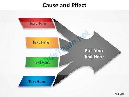 cause_and_effect_with_arrows_4_causes_slides_presentation_diagrams_templates_powerpoint_info_graphics_Slide01